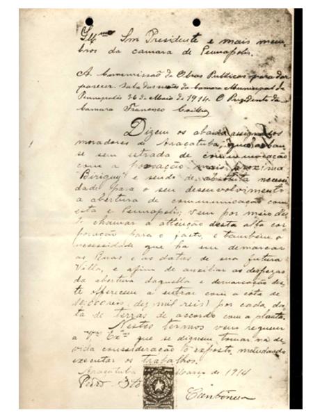 O documento mais antigo